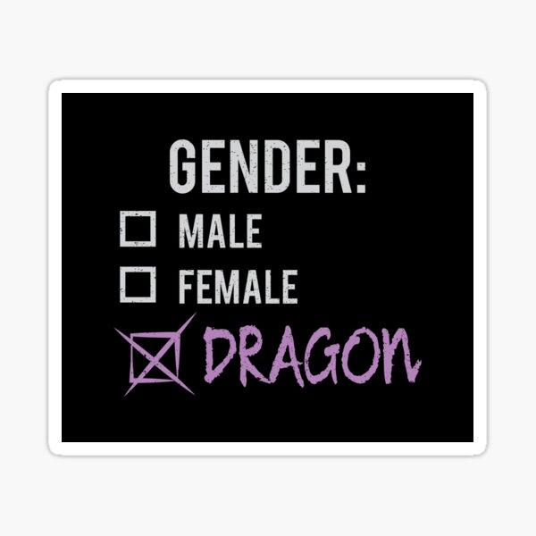 Gender: Dragon! Sticker
