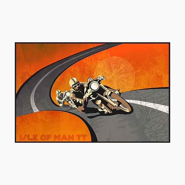 retro motorcycle Isle of Man TT poster Photographic Print