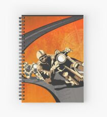 retro motorcycle Isle of Man TT poster Spiral Notebook