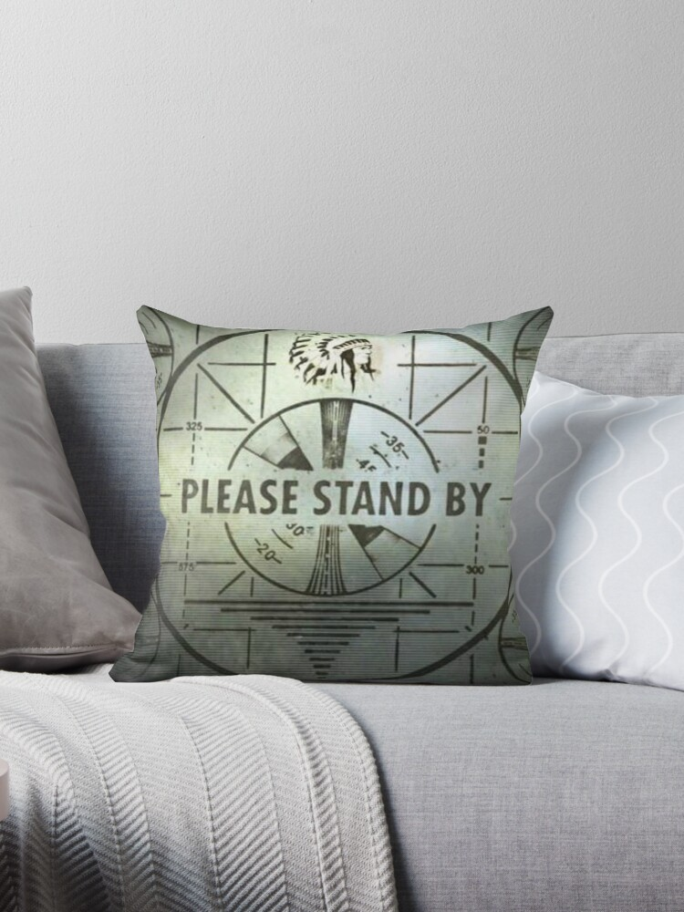 Please Stand By Throw Pillows
