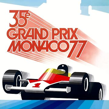 1977 Monaco Grand Prix Racing Poster by retrographics