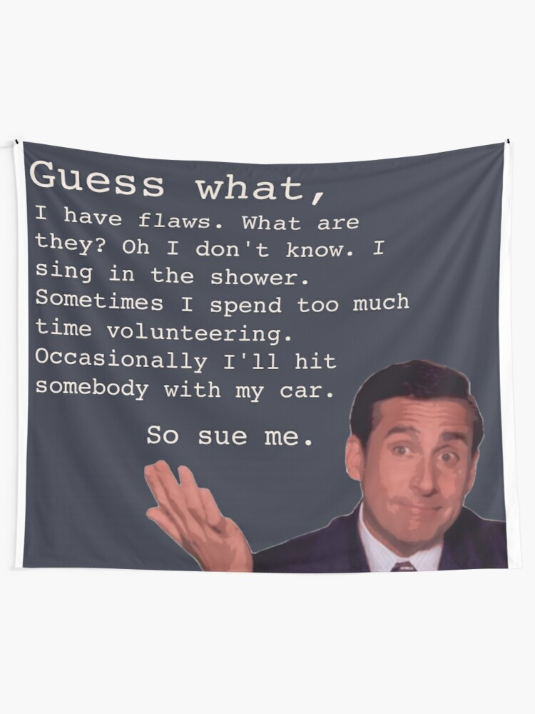 Alternate view of Michael Scott Quotes Tapestry