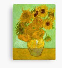 'Twelve Sunflowers' by Vincent Van Gogh (Reproduction) Canvas Print
