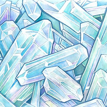 Blue Green Crystal Cave by VeeVee