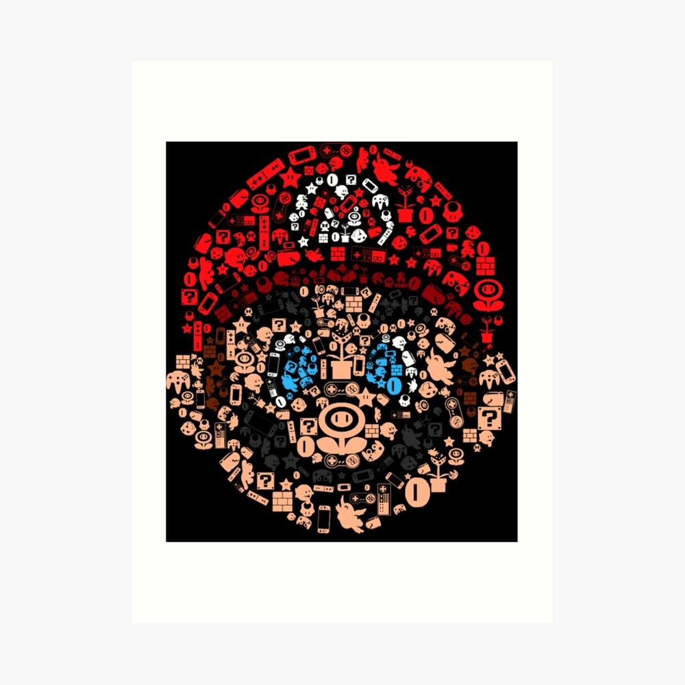 Mario Collage Kunstdruck