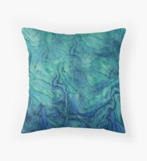 Blue Water Color Abstract Floor Pillow