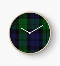 00267 Grant Hunting or Black Watch Military Tartan Clock