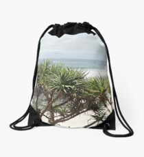 Under the Shade of a Pandanas Drawstring Bag