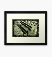 The lonely bench Framed Print