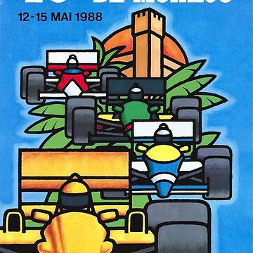 1988 Monaco Grand Prix Racing Poster by retrographics