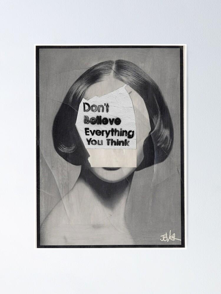 Alternate view of thinker Poster