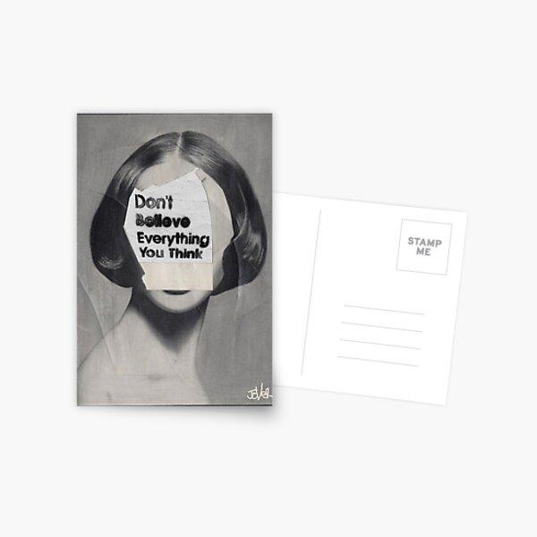 thinker Postcard