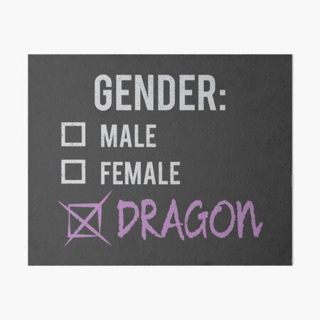 Geschlecht: Drache! Galeriedruck