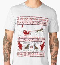 Staffordshire Bull Terrier Ugly Christmas Women Men Mom Men's Premium T-Shirt