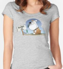 Funny Beware Of The Dog Women's Fitted Scoop T-Shirt