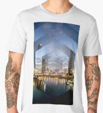 Beautiful Brisbane River Print - A Geometric Design Men's Premium T-Shirt