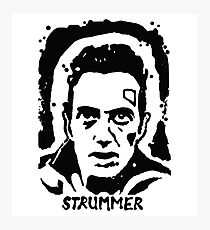 Joe Strummer Block Print Photographic Print