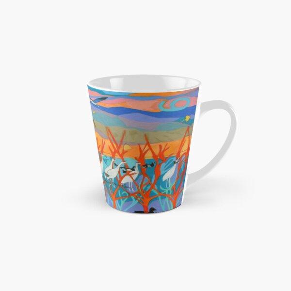 Nine Leaves in the Wind Tall Mug