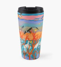 Nine Leaves in the Wind Travel Mug