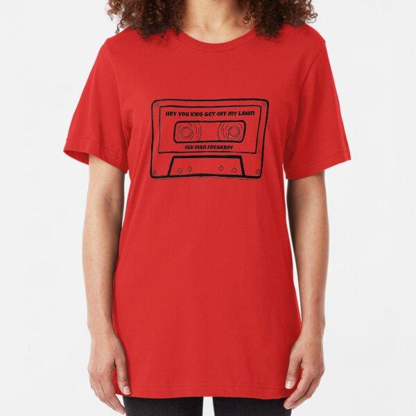 heykidsGOML B&W Cassette Tape Logo Slim Fit T-Shirt