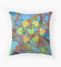 Seven Cottonwoods of the Bosque Throw Pillow