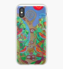 Two Trees and Fig Leaves in the Garden of Desire iPhone Case