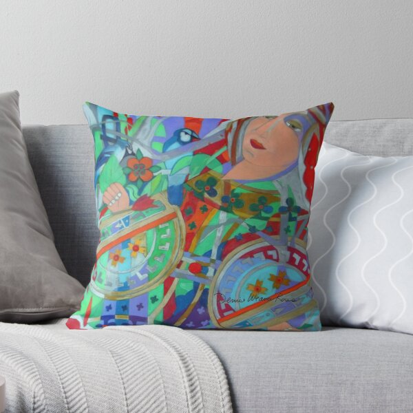 Queen of the Birch Trees Throw Pillow