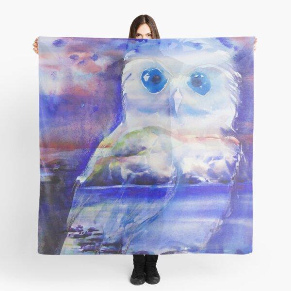 Boobook Owl in watercolour Scarf