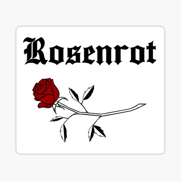 Rosenrot - Noir Sticker