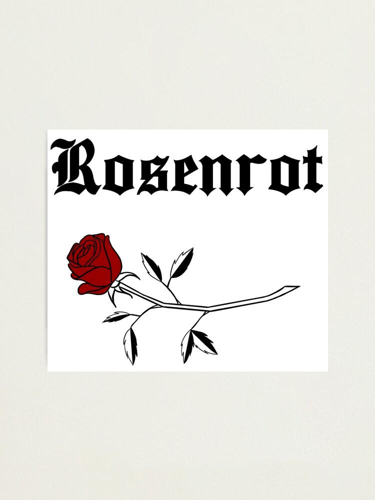 Alternate view of Rosenrot - Black Photographic Print