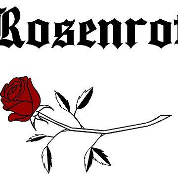 Rosenrot - Schwarz von retr0babe