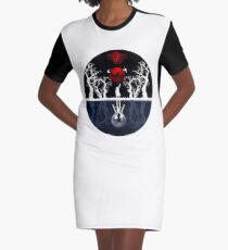 The Falling Part On The Wierd Life Graphic T-Shirt Dress