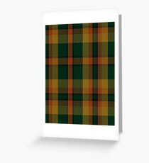 00336 Londonderry County District Tartan  Greeting Card