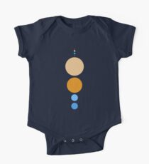 Planets To Scale (vertical) One Piece - Short Sleeve