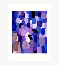 purple rain girl Art Print
