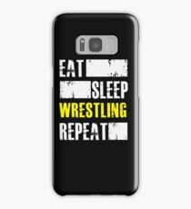 Eat Sleep Wrestling Repeat - Funny Wrestler Athlete  Samsung Galaxy Case/Skin