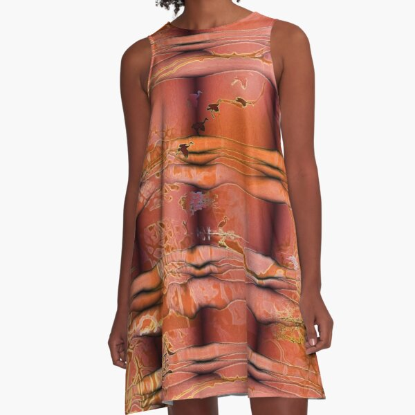 Migratory Cranes  A-Line Dress
