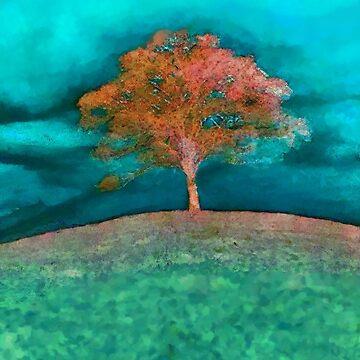A solitary tree  by valzart