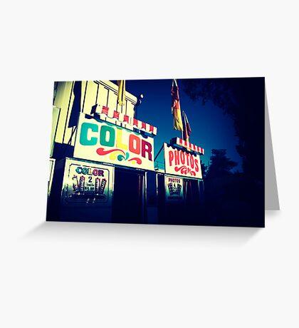 Color Photos Greeting Card