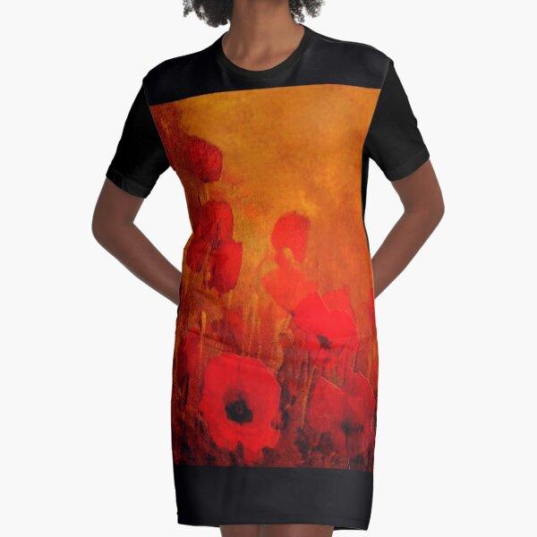 Poppy heaven  Graphic T-Shirt Dress