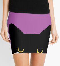 Tuxedo Cat Glare Mini Skirt