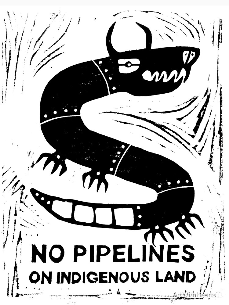 No Pipelines! Indigenous People  by ArtWithHearts11