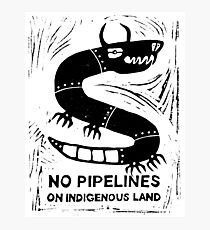 No Pipelines! Indigenous People  Photographic Print