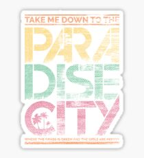 Paradise city Sticker