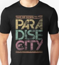 Paradies-Stadt Slim Fit T-Shirt