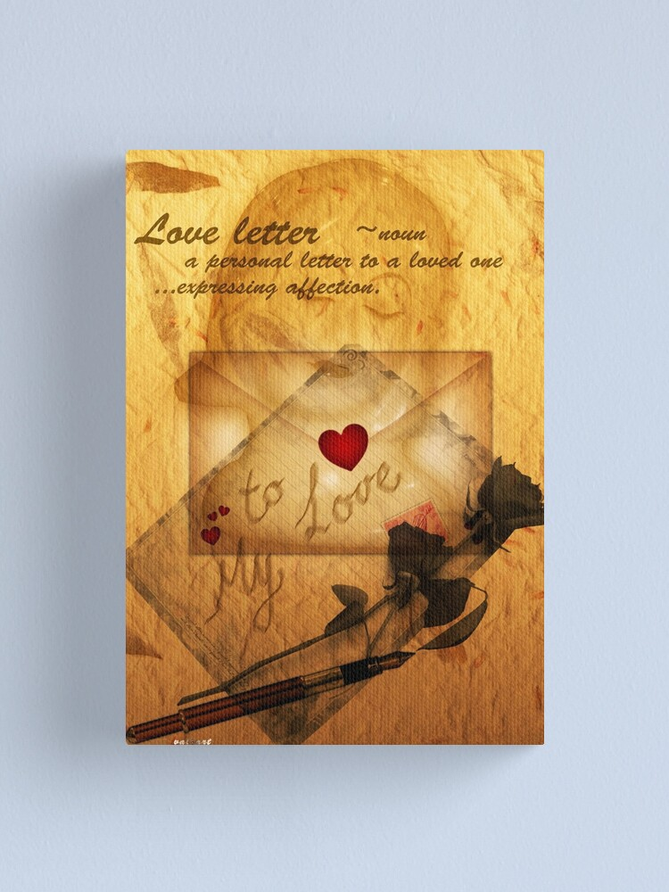 Alternate view of Love letter  Canvas Print