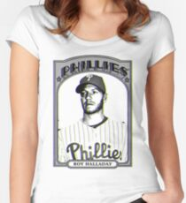 P Always For Roy Halladay Women's Fitted Scoop T-Shirt