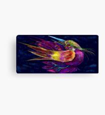 Kingfisher falling  La caida del Martin Pescador Canvas Print