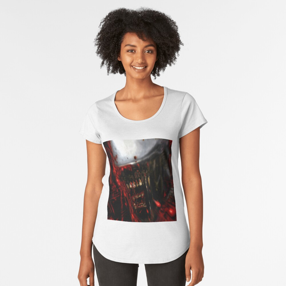 White Alien  Women's Premium T-Shirt Front