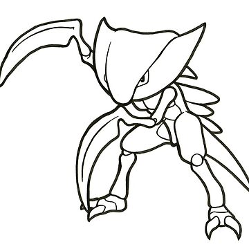 Kabutops Lineart Drawing by ArkainStudios